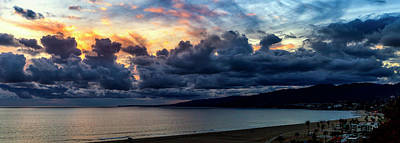 Photograph - Blazing Sky At Sunset - Panorama by Gene Parks