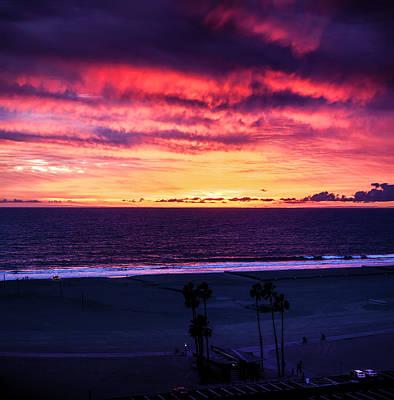 Photograph - Blazing Sky by Gene Parks