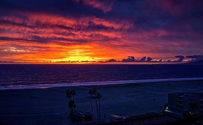 Photograph - Blazing Sky - Panorama by Gene Parks