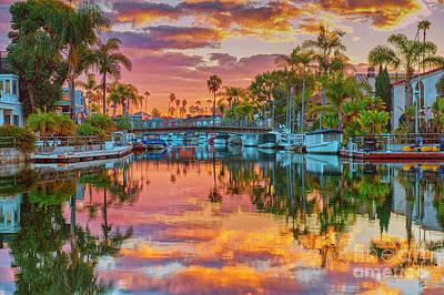 Photograph - Blazing Sky Reflections From Above by David Zanzinger