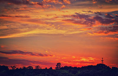 Photograph - Retzer Nature Center - Blazing Summer Sunset  by Jennifer Rondinelli Reilly - Fine Art Photography
