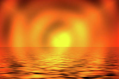 Digital Art - Blazing Sun by Cheryl Hall