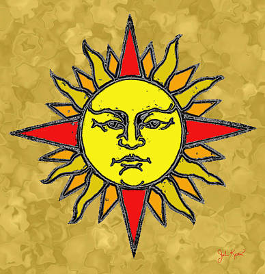 Digital Art - Blazing Sun by John Keaton