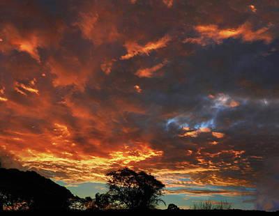 Photograph - Blazing Sunrise by Mark Blauhoefer