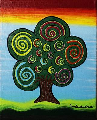 Painting - Curly Tree by Lucie Buchert
