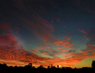 Photograph - Blazing Sunset by Mark Blauhoefer