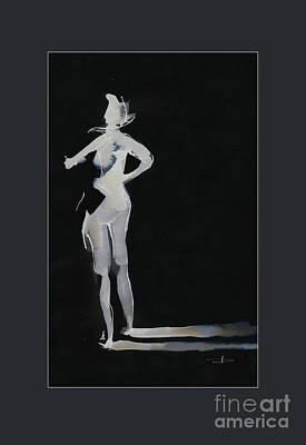 Drawing - Bleach Figure Study 1 by Paul Davenport