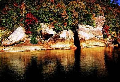 Photograph - Bleached Boulders - Cumberland Falls by George Bostian