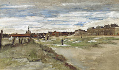 Bleaching Ground At Scheveningen Print by Vincent van Gogh