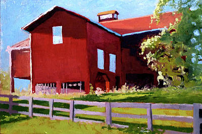 Old Barn Painting - Bleak House Barn No. 3 by Catherine Twomey