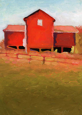 Blue Ridge Painting - Bleak House Barn No. 4 by Catherine Twomey