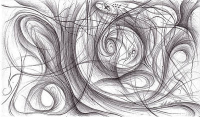 Drawing - Bleak Migration by Michael Morgan