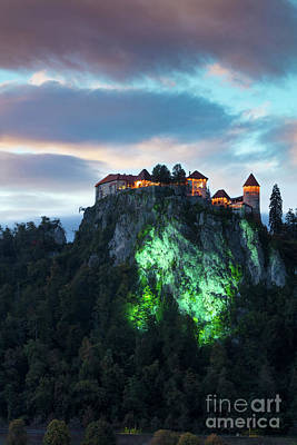 Photograph - Bled Castle Night by Brian Jannsen