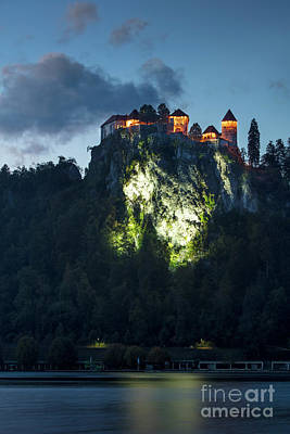 Photograph - Bled Castle Twilight by Brian Jannsen