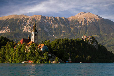Bled Island With Bled Castle Art Print