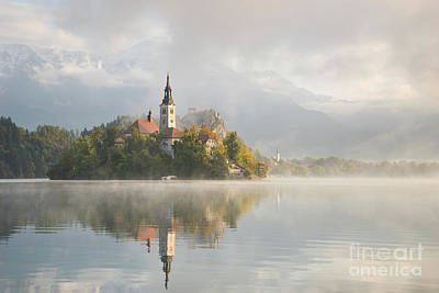 Photograph - Bled Lake On A Beautiful Foggy Morning by IPics Photography
