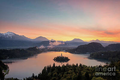 Photograph - Bled Lake Sunrise View by IPics Photography