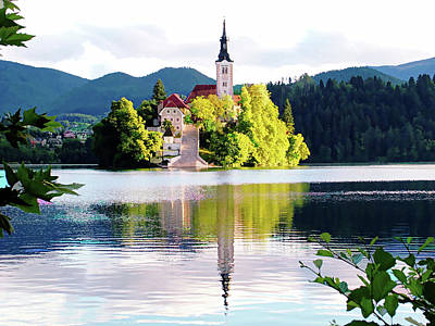 Digital Art - Bled Waking Up - Bled, Slovenia by Joseph Hendrix