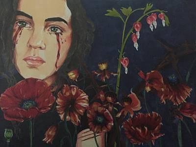 Tears Drawing - Bleeding Heart  by Alison DeHart