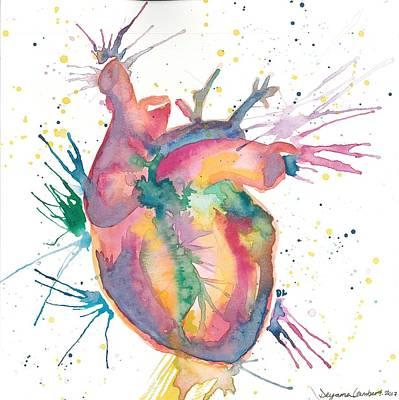 Wall Art - Painting - Bleeding Heart by Deyanna Lambert