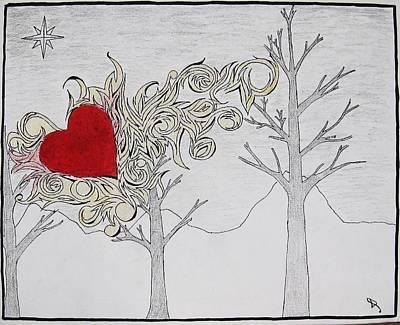 Art Print featuring the drawing Bleeding Heart by Daryl Chakravarthy
