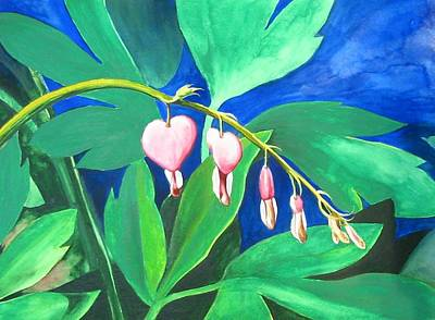 Bleeding Hearts Art Print by Carrie Auwaerter