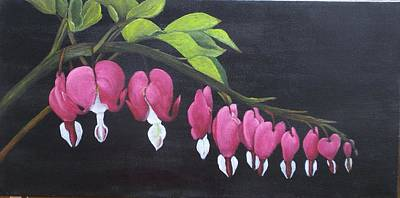 Painting - Bleeding Hearts by Marti Idlet
