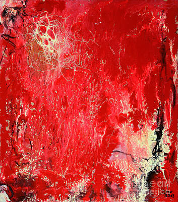 Painting - Bleeding Love by Jutta Maria Pusl