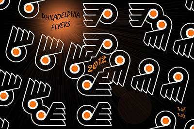 Bleeding Orange And Black - Flyers Art Print by Trish Tritz