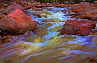 Water Filter Mixed Media - Bleeding Rocks by Todd Yoder