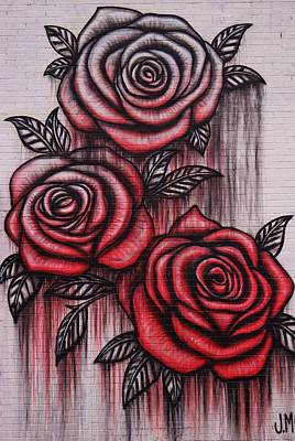 Photograph - Bleeding Roses by Christopher James