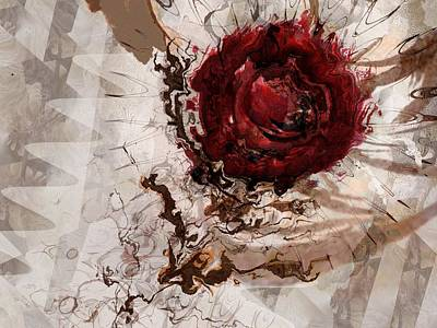 Bleeding Thought Art Print by Lauren Goia