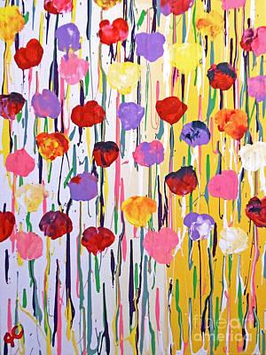 Mental Painting - Bleeding Tulips by Jilian Cramb - AMothersFineArt