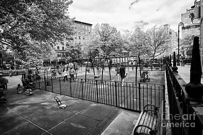 Americas Playground Photograph - bleeker playground greenwich village New York City USA by Joe Fox