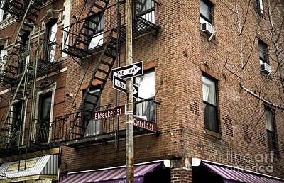 Photograph - Bleeker Street One Way by John Rizzuto