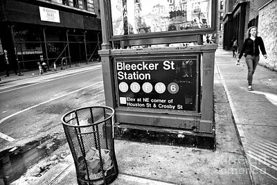 Photograph - Bleeker Street Station by John Rizzuto