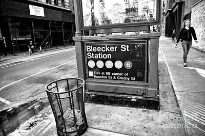 Photograph - Bleeker Street Station by John Rizzuto