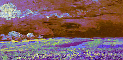 Digital Art - Blend 18 Van Gogh by David Bridburg