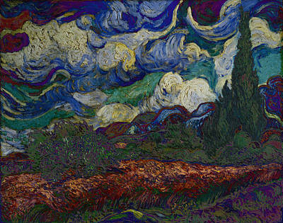 Digital Art - Blend 19 Van Gogh by David Bridburg