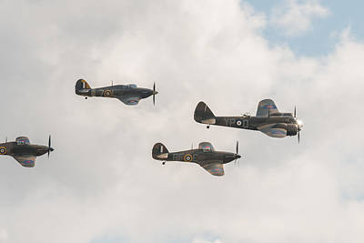 Photograph - Blenheim And Hurricanes by Gary Eason