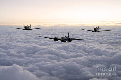 Blenheim And The Fighters Art Print