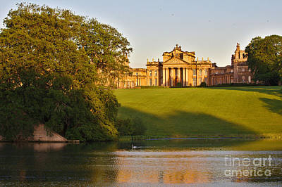 Blenheim Palace And Lake Art Print by Jeremy Hayden