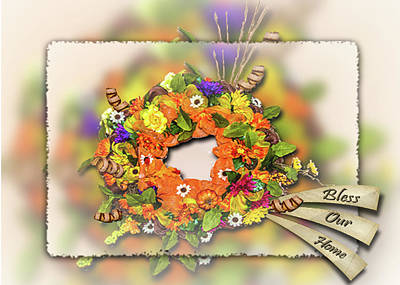 Photograph - Bless Our Home Wreath by Leticia Latocki
