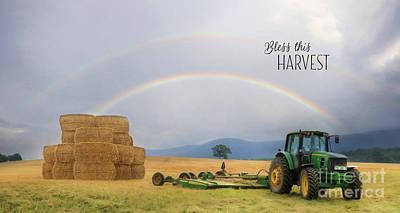 Bale Digital Art - Bless This Harvest by Lori Deiter