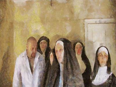 Bizarre Painting - Bless Us Father by Pierre Blanchard