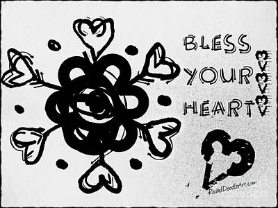 Drawing - Bless Your Heart by Rachel Maynard