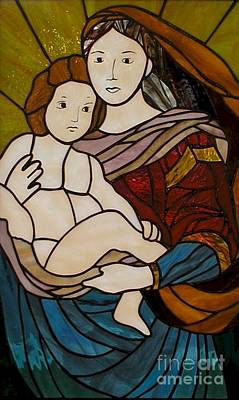 Blessed Art Thou Among Women-mary Art Print by David Gomm