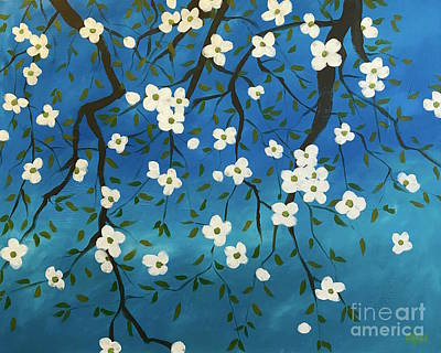 Painting - Blessed Blossoms by Wonju Hulse