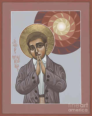 Painting - Saint Francisco Marto Of Fatima 081 by William Hart McNichols