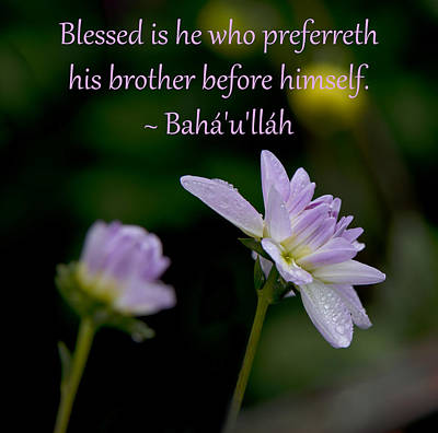 Photograph - Blessed Is He by Baha'i Writings As Art